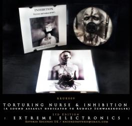 RRUK009   TORTURING NURSE & INHIBITION (A sound assault dedicated to Rudolf Schwarzkogler) Mini CD   Ltd Edition