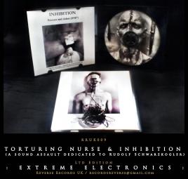 RRUK009 | TORTURING NURSE & INHIBITION (A sound assault dedicated to Rudolf Schwarzkogler) Mini CD | Ltd Edition