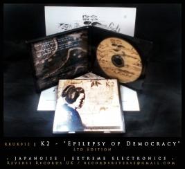 """RRUK012   K2 - """"Epilepsy of Democracy""""   Mini CD   Ltd Edition"""