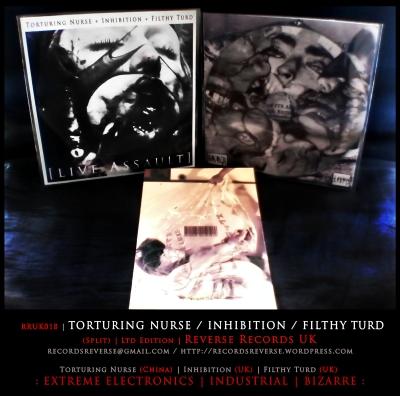 RRUK018   TORTURING NURSE / INHIBITION / FILTHY TURD (Split)   CD   Ltd Edition: