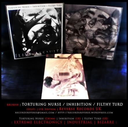 RRUK018 | TORTURING NURSE / INHIBITION / FILTHY TURD (Split) | CD | Ltd Edition: